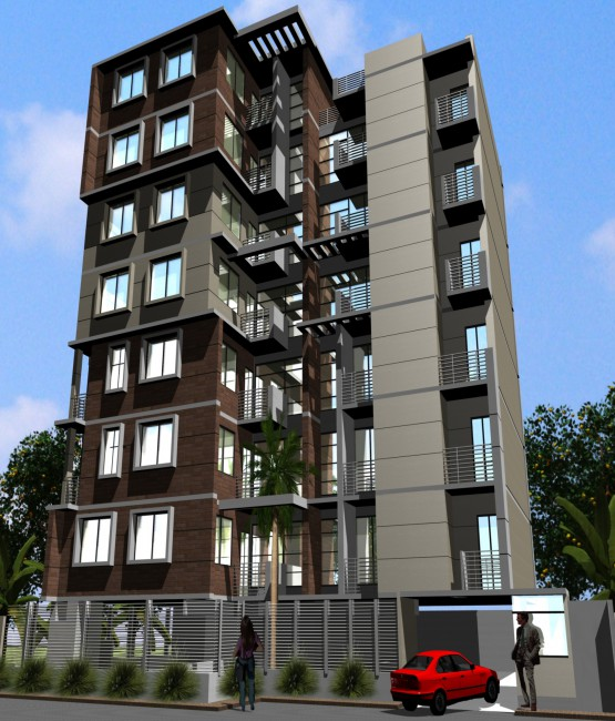 Residential apartments global interaction ltd for Bangladeshi building design